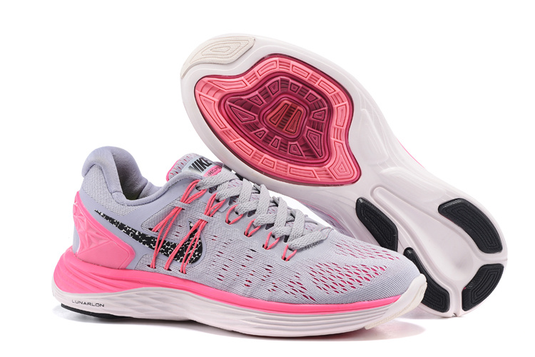 Women Nike Lunareclipes Grey Pink Black Running Shoes