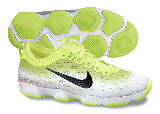 Women Nike Zoom Fit Agility Fluorscent Green White Running Shoes