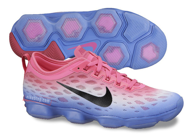 Women Nike Zoom Fit Agility Red White Purple Running Shoes
