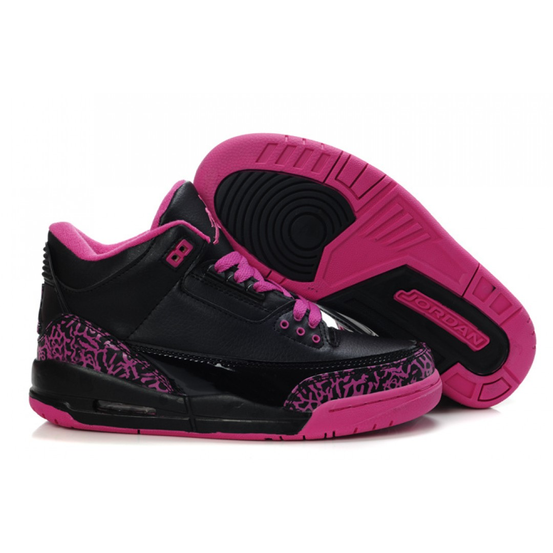 Womens Air Jordan 3 Red Black