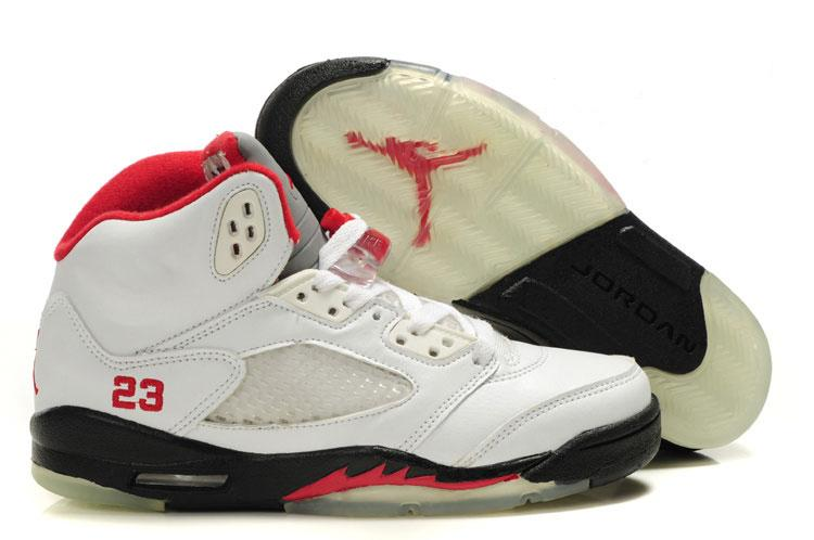 Womens Air Jordan 5 Retro Fire Red White Black Fire Red