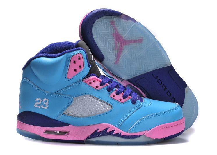 more photos 40d8a 91cc5 Womens Air Jordan 5 Teal Pink Purple