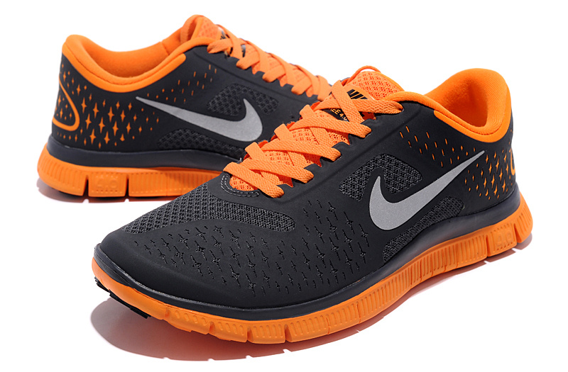 new styles cbd9a 9ddc4 ... coupon code nike women nike free run 4.0 v2 black orange shoes . b1346  d48e6