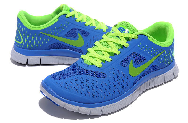 Women Nike Free Run 40 V2 Blue Green Shoes