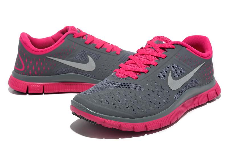 new product 24bf0 5184e ... store women nike free run 4.0 v2 grey pink shoes e88ff 6c65a