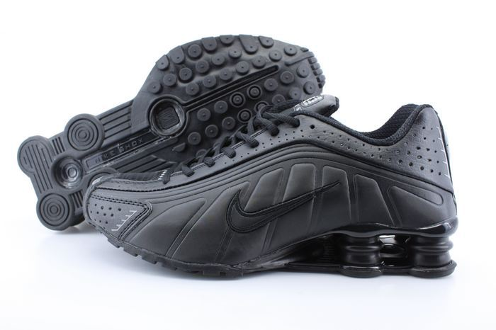 Women Shox R4 Shoes All Black