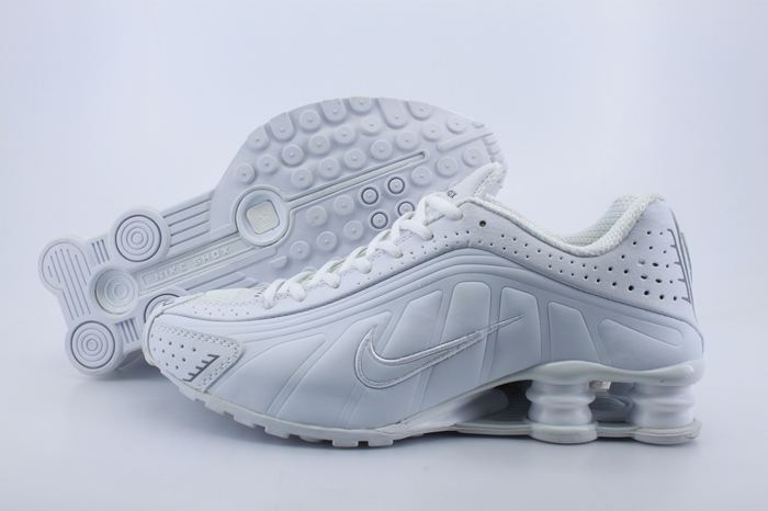 Women Shox R4 Shoes All White