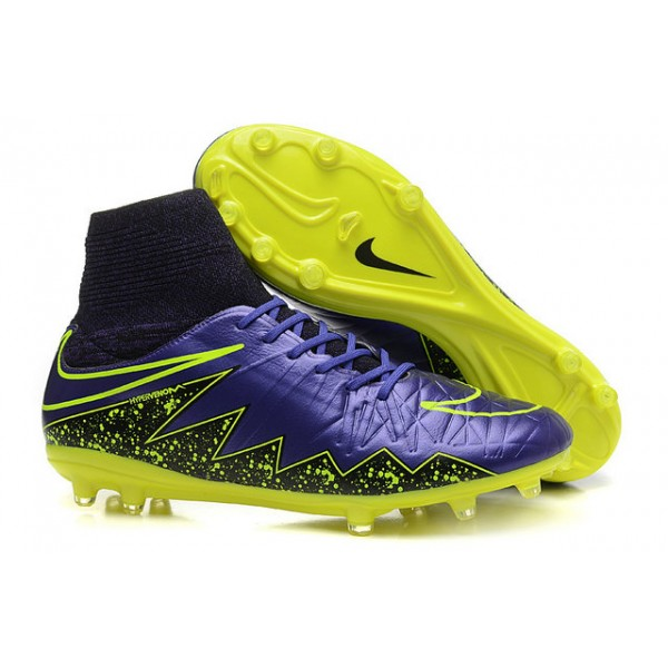 mens nike hypervenom phantom 2 fg soccer shoes acc violet yellow black