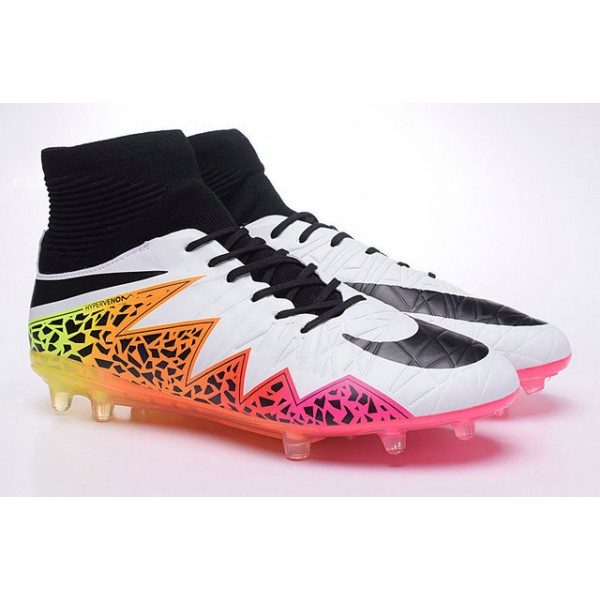 new cleats for men nike hypervenom phantom ii fg white orange pink black