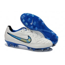 nike football cleats for men tiempo legend fg white blue
