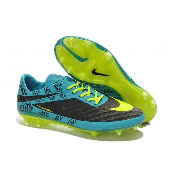 nike hypervenom phantom fg acc soccer boots reflective pack blue yellow black