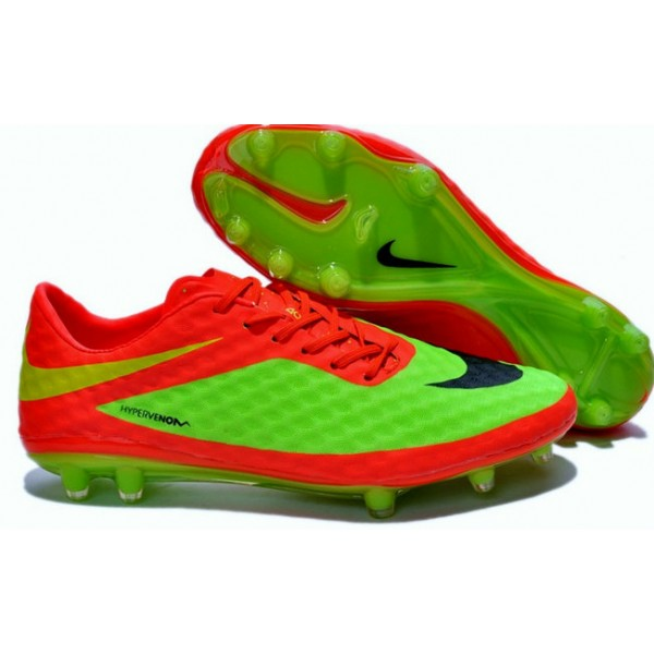 nike hypervenom phantom fg football cleats for men red green black