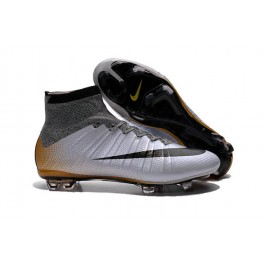 nike new mercurial superfly fg men s firm ground soccer boots cr500 silvery black gold