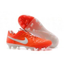 nike tiempo legend v fg men's firm ground soccer cleat orange white